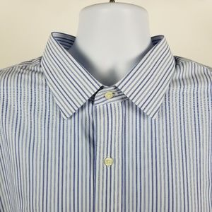 Brooks Brothers Non Iron Blue Striped 19 36/37